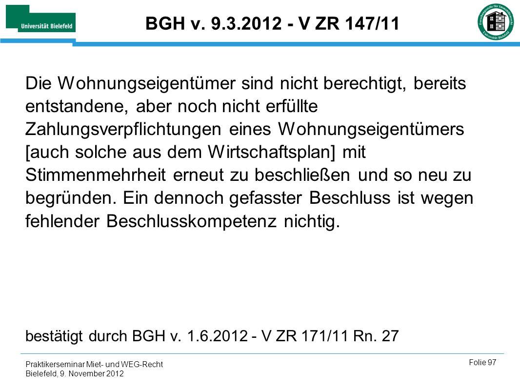 BGH v. 9.3.2012 - V ZR 147/11