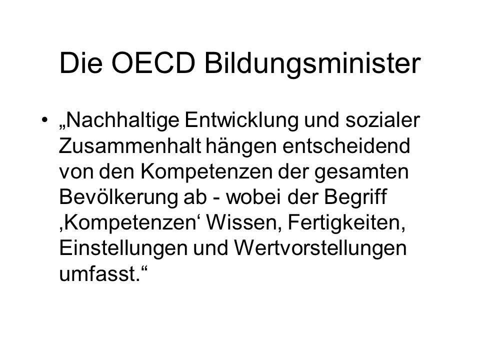 Die OECD Bildungsminister