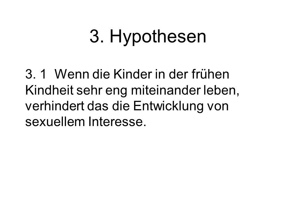 3. Hypothesen 3.