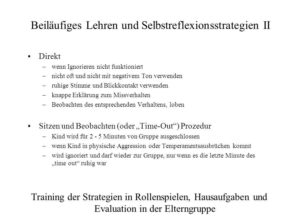Beiläufiges Lehren und Selbstreflexionsstrategien II