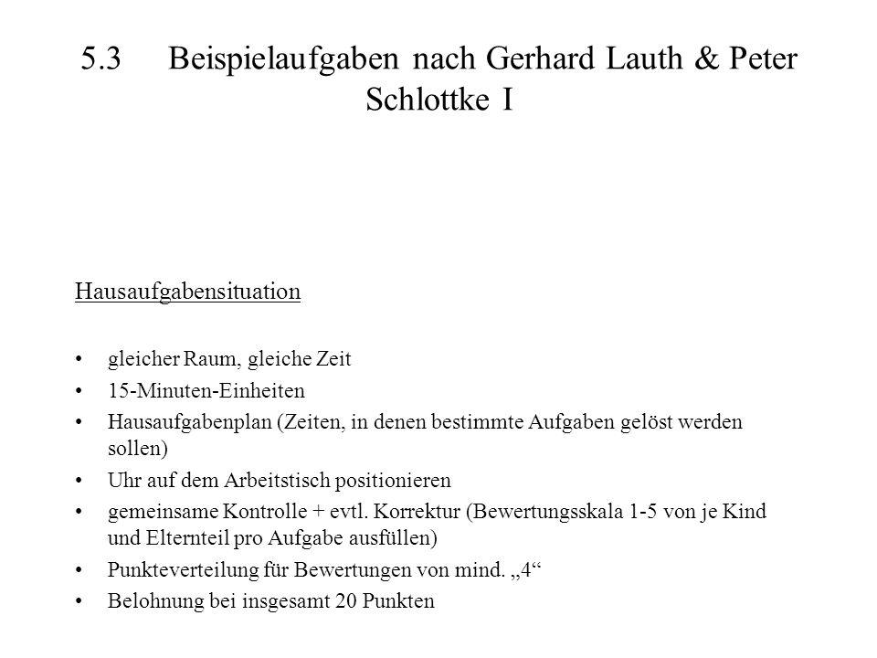 5.3 Beispielaufgaben nach Gerhard Lauth & Peter Schlottke I