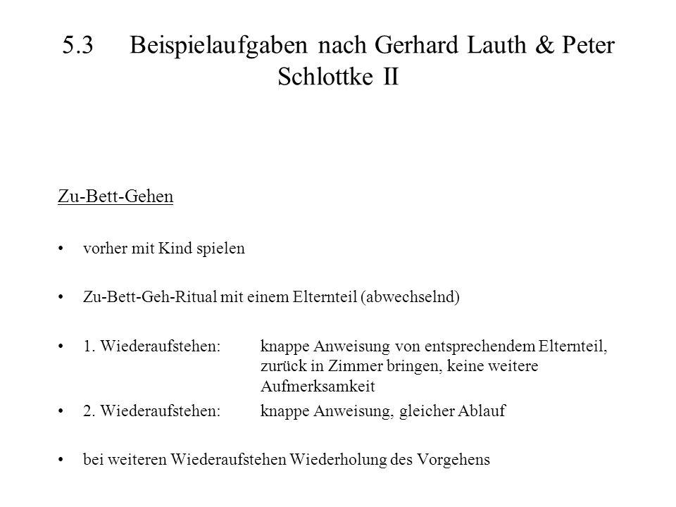 5.3 Beispielaufgaben nach Gerhard Lauth & Peter Schlottke II