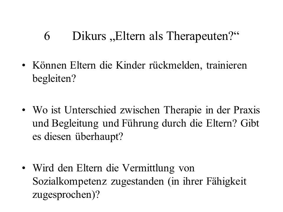 "6 Dikurs ""Eltern als Therapeuten"