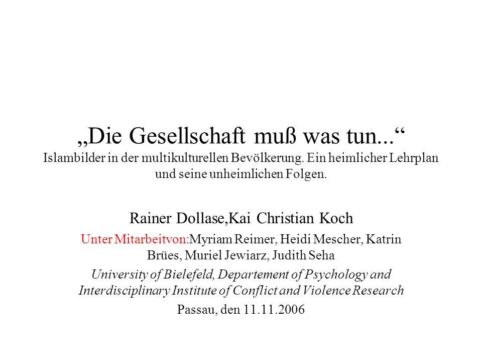 Rainer Dollase,Kai Christian Koch