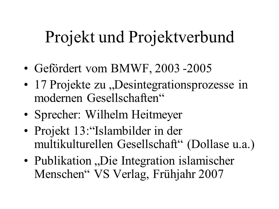 Projekt und Projektverbund