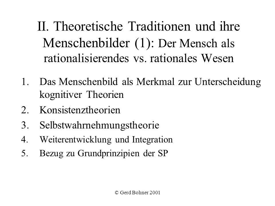II. Theoretische Traditionen und ihre Menschenbilder (1): Der Mensch als rationalisierendes vs. rationales Wesen