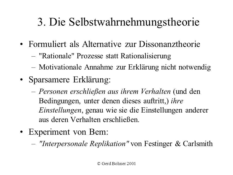 3. Die Selbstwahrnehmungstheorie