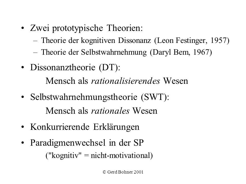 Zwei prototypische Theorien:
