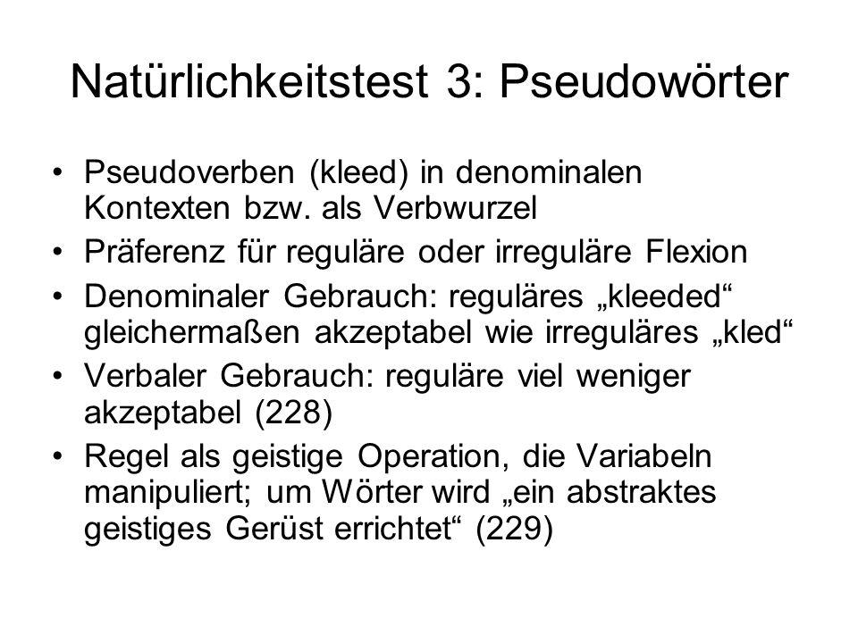 Natürlichkeitstest 3: Pseudowörter