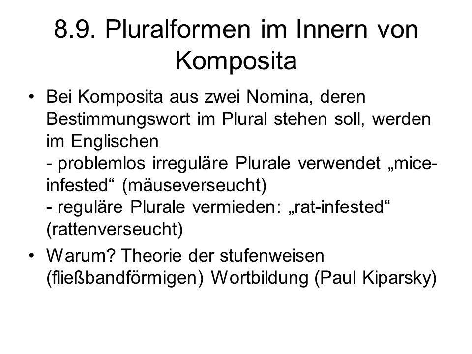 8.9. Pluralformen im Innern von Komposita