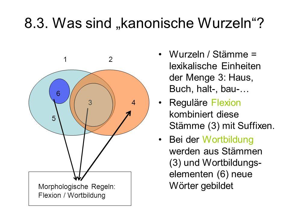 """8.3. Was sind """"kanonische Wurzeln"""