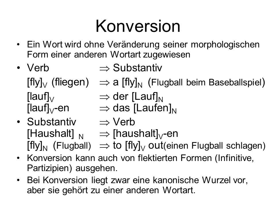 Konversion Verb  Substantiv