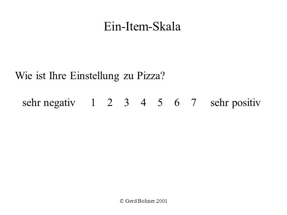 Ein-Item-Skala Wie ist Ihre Einstellung zu Pizza