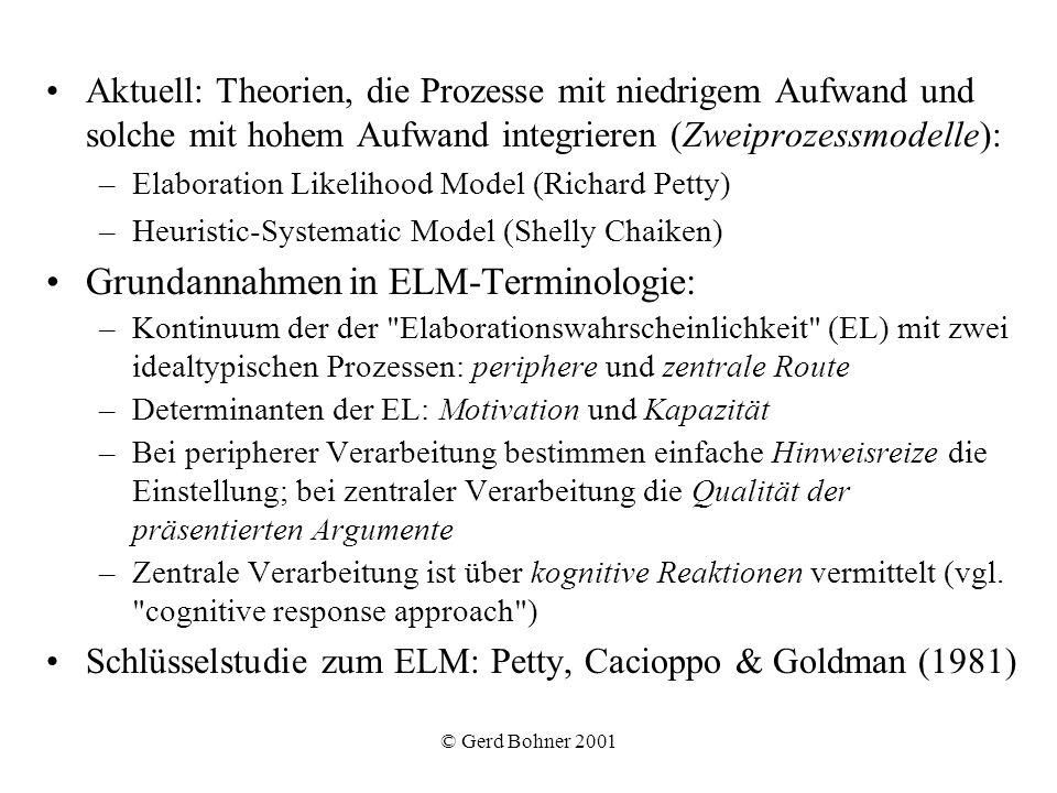 Grundannahmen in ELM-Terminologie: