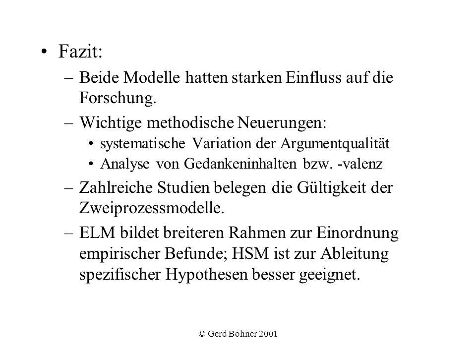 Fazit: Beide Modelle hatten starken Einfluss auf die Forschung.