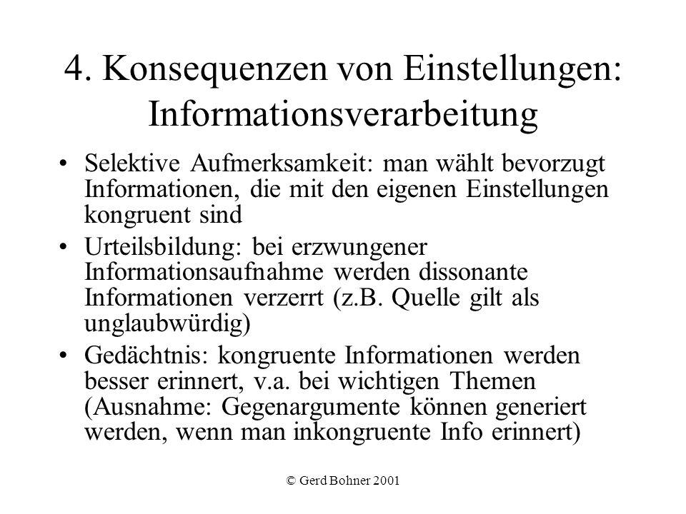 4. Konsequenzen von Einstellungen: Informationsverarbeitung