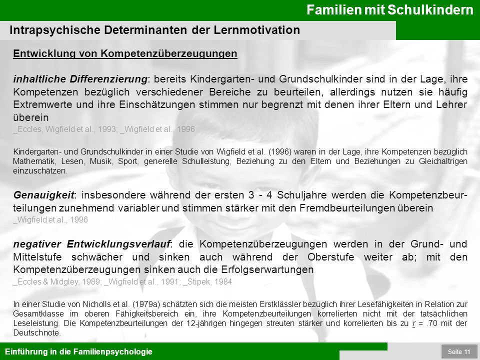Intrapsychische Determinanten der Lernmotivation