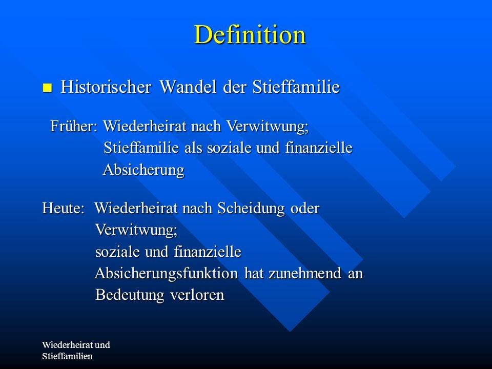 Definition Historischer Wandel der Stieffamilie