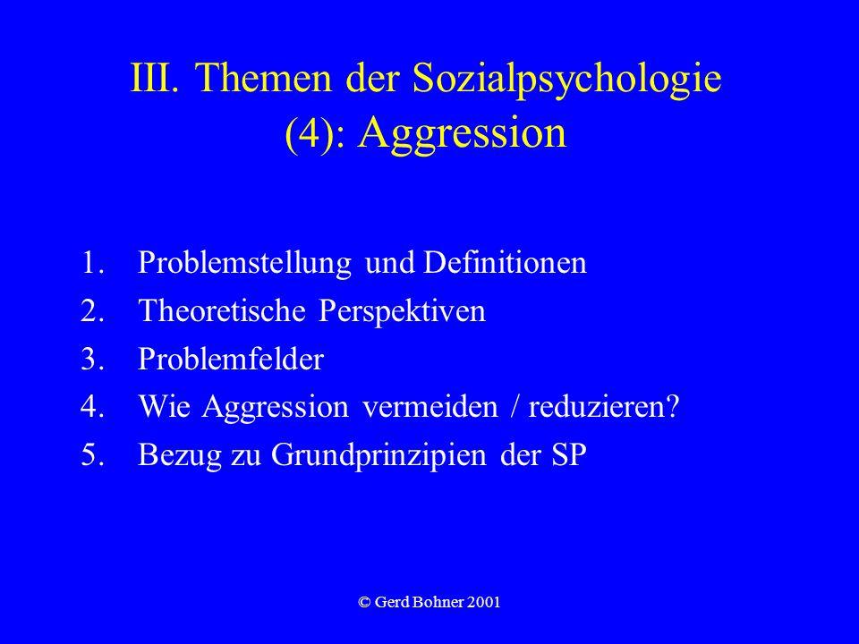 III. Themen der Sozialpsychologie (4): Aggression