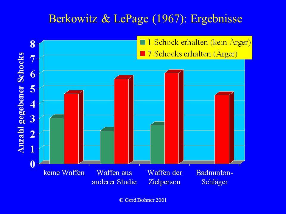 Berkowitz & LePage (1967): Ergebnisse