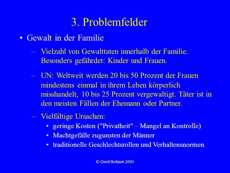 3. Problemfelder Gewalt in der Familie