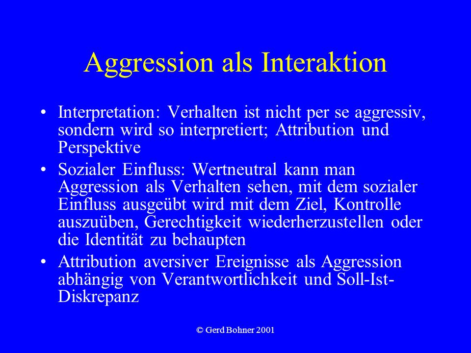 Aggression als Interaktion