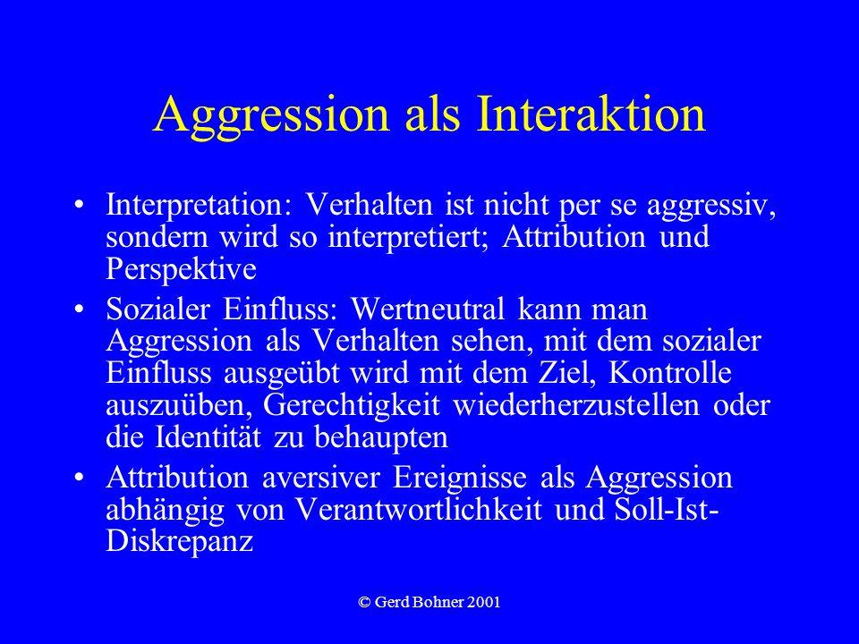 Aggression als Interaktion
