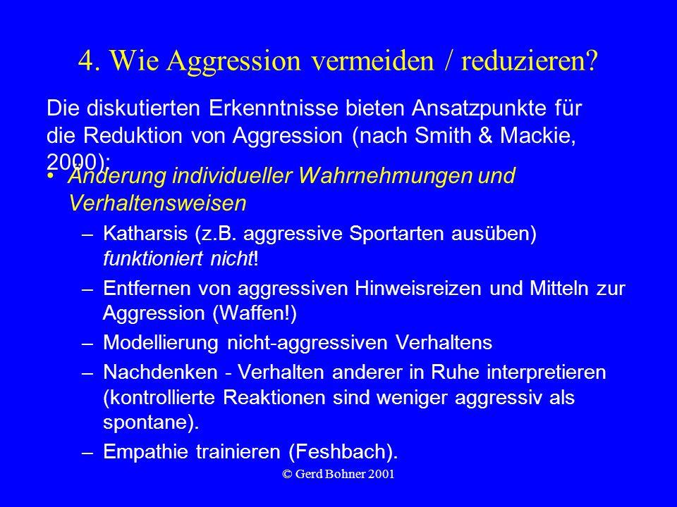 4. Wie Aggression vermeiden / reduzieren