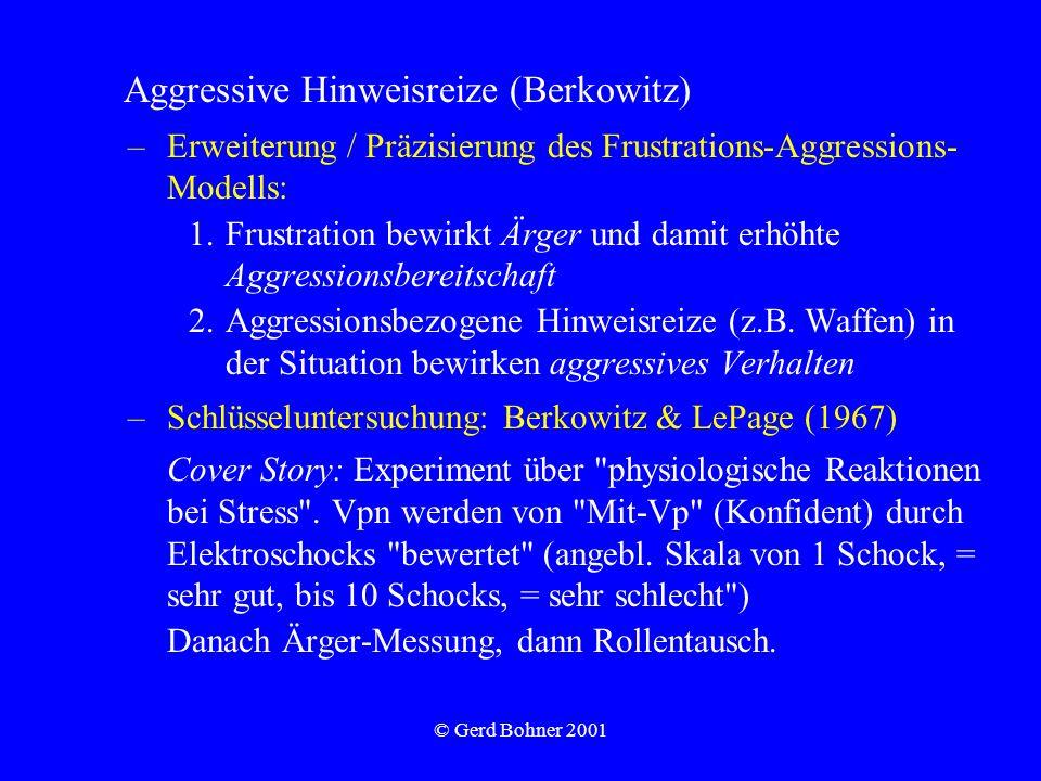 Aggressive Hinweisreize (Berkowitz)