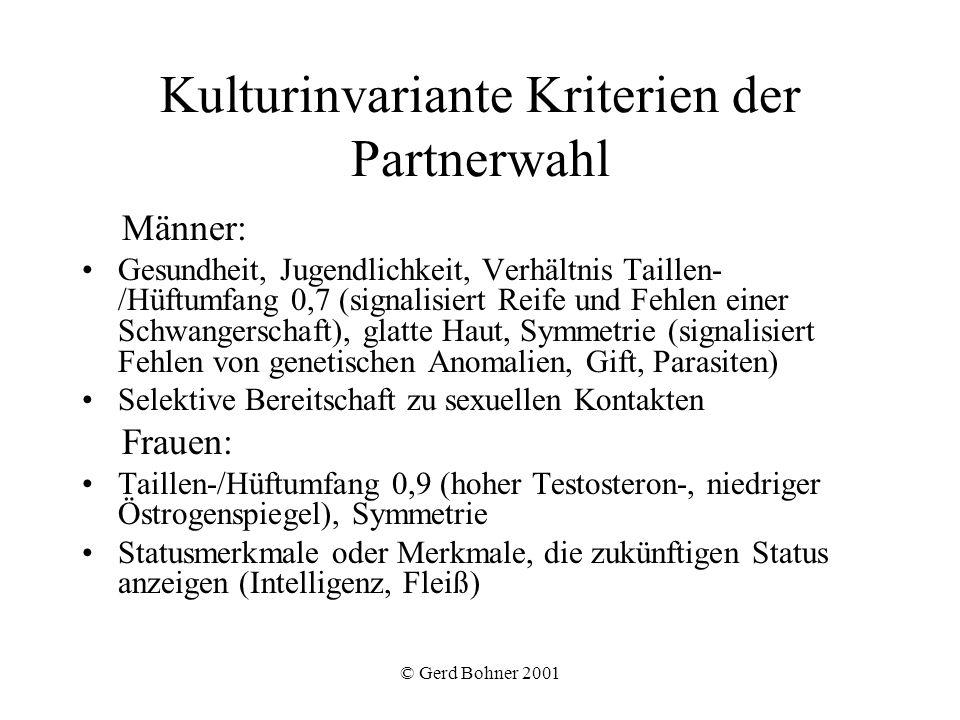 Kulturinvariante Kriterien der Partnerwahl