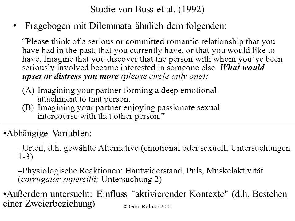 Fragebogen mit Dilemmata ähnlich dem folgenden: