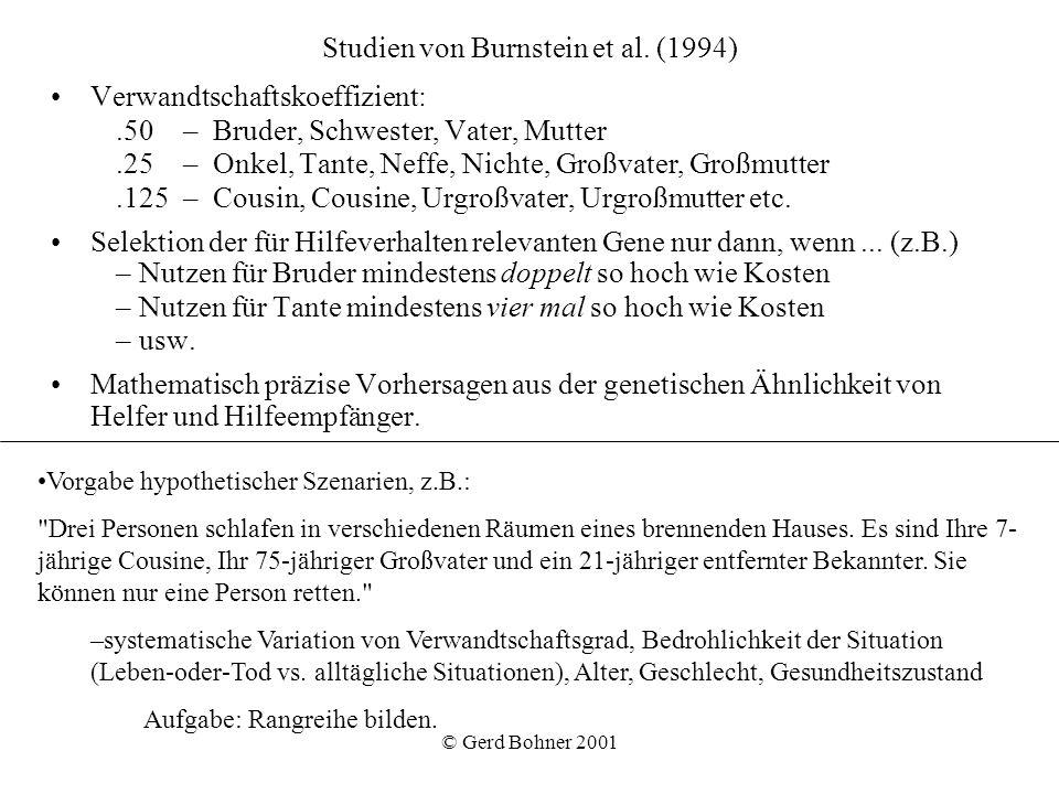 Studien von Burnstein et al. (1994)