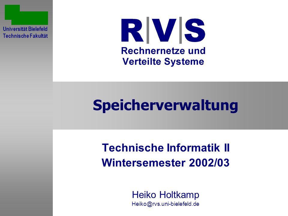 Technische Informatik II Wintersemester 2002/03