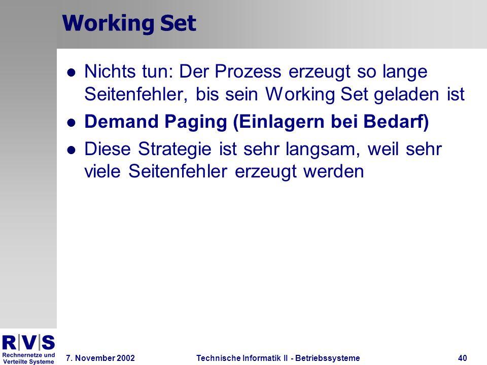 Technische Informatik II - Betriebssysteme