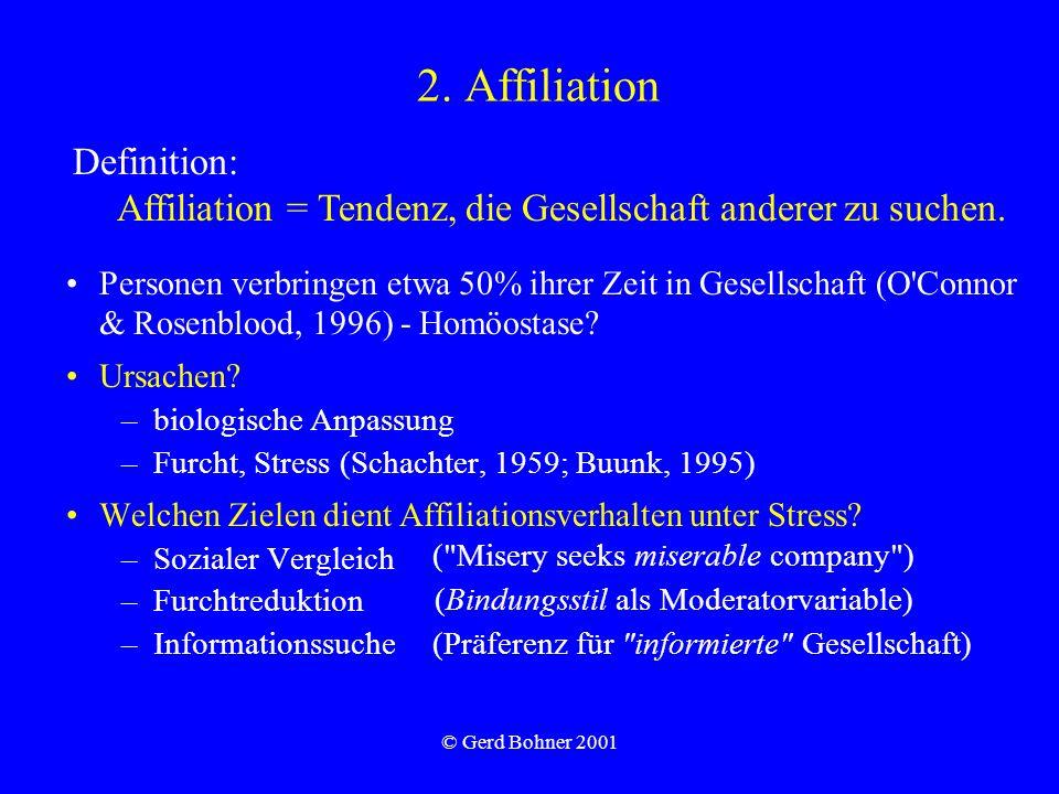 2. Affiliation Definition: