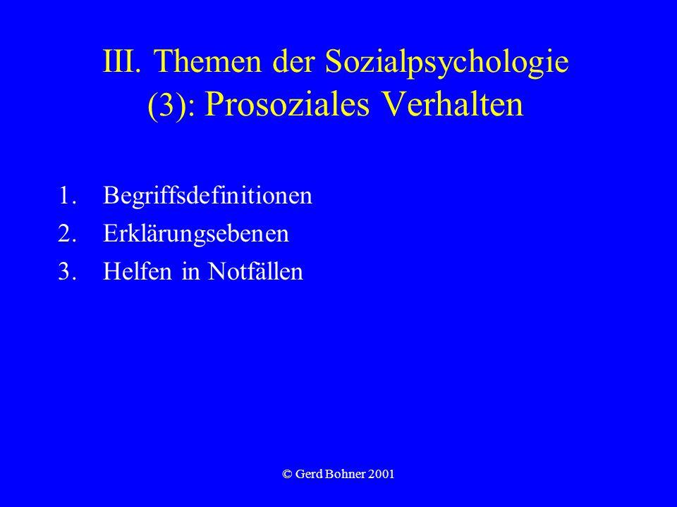 III. Themen der Sozialpsychologie (3): Prosoziales Verhalten