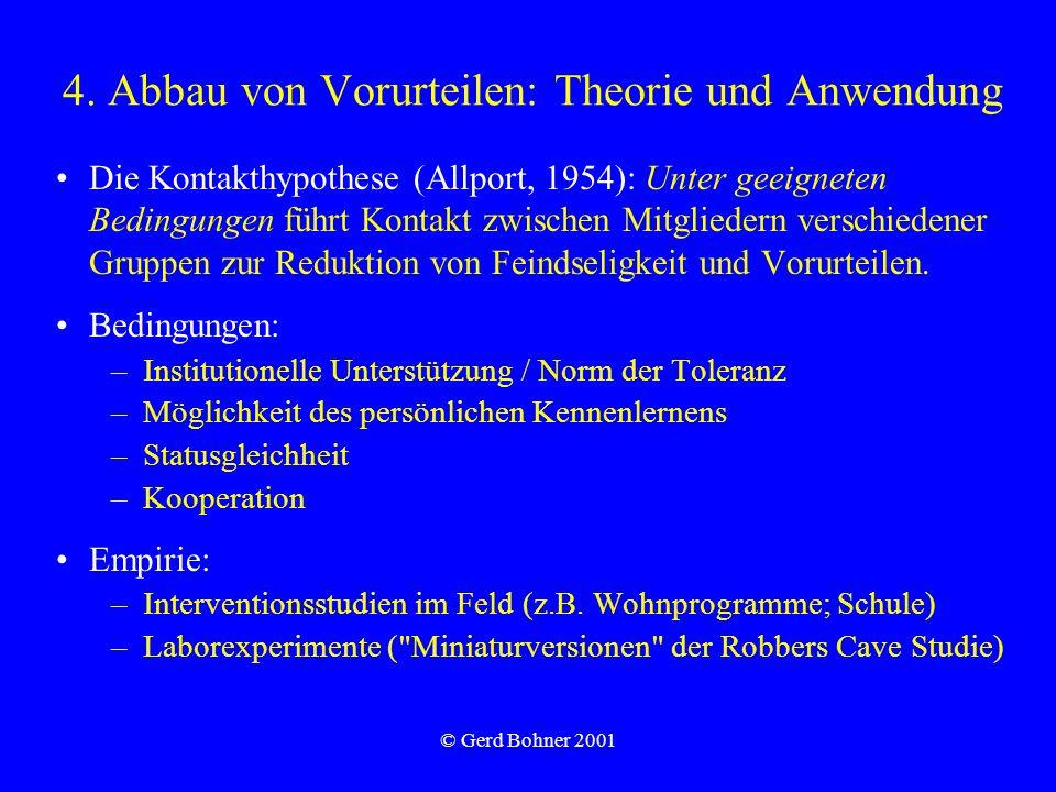 4. Abbau von Vorurteilen: Theorie und Anwendung