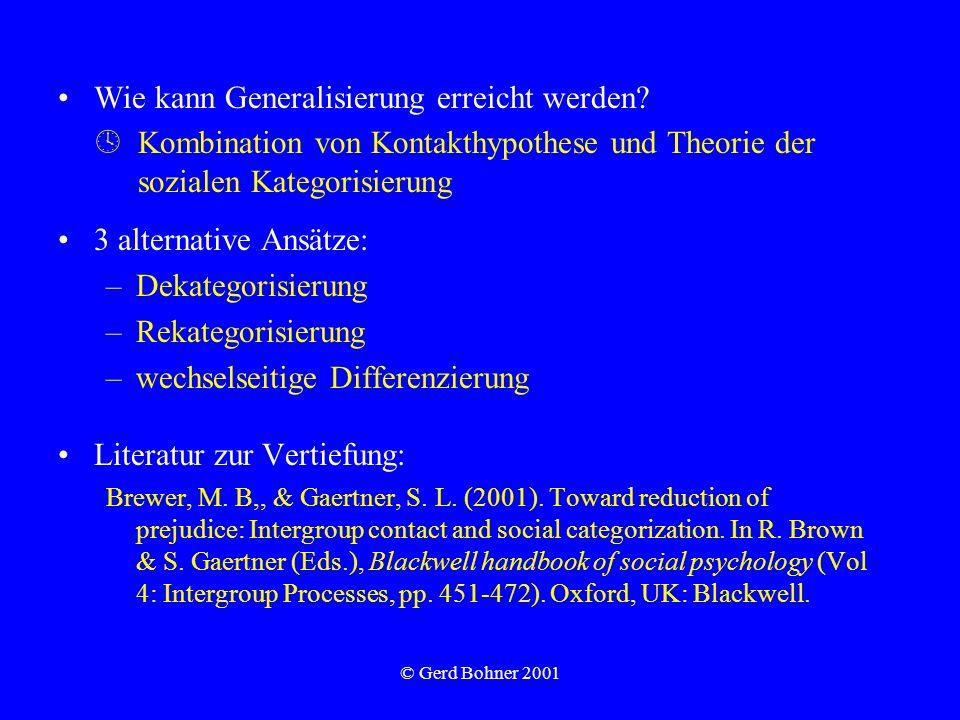 Wie kann Generalisierung erreicht werden
