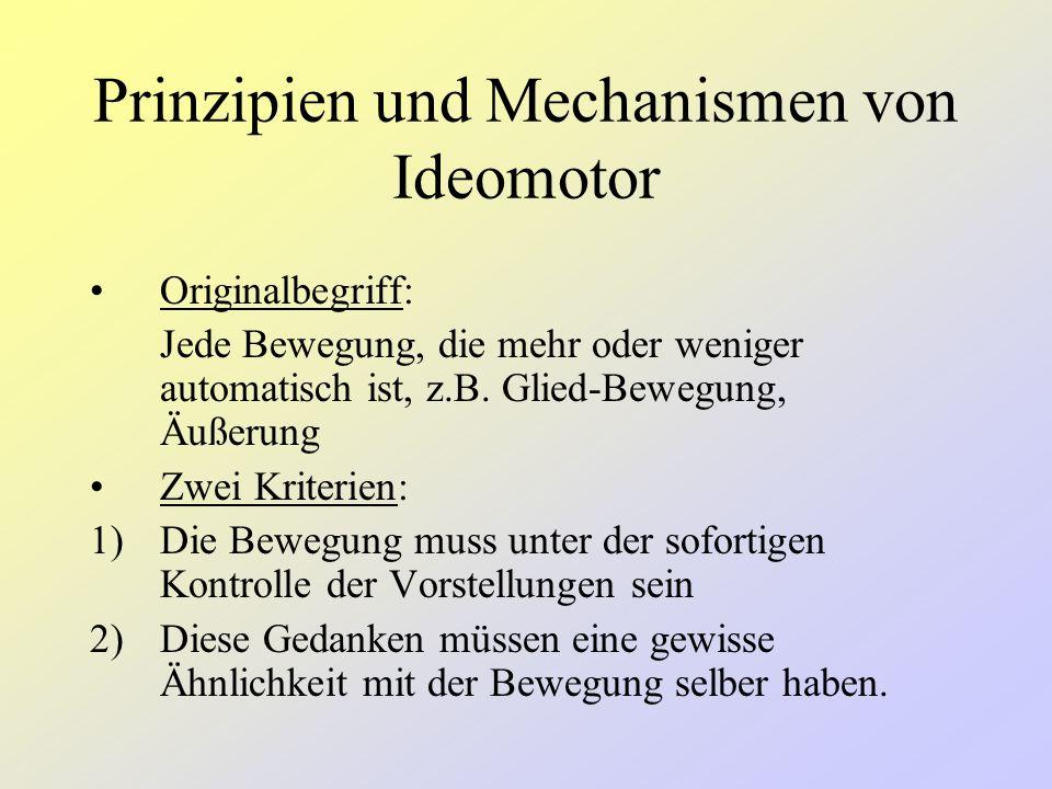 Prinzipien und Mechanismen von Ideomotor