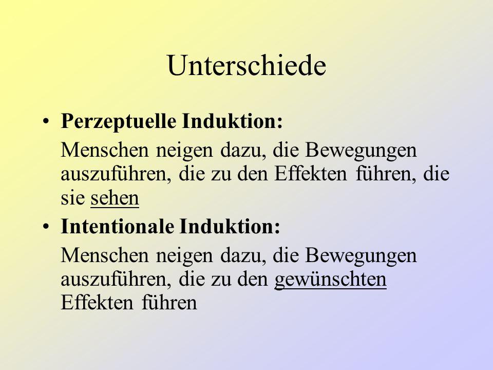 Unterschiede Perzeptuelle Induktion: