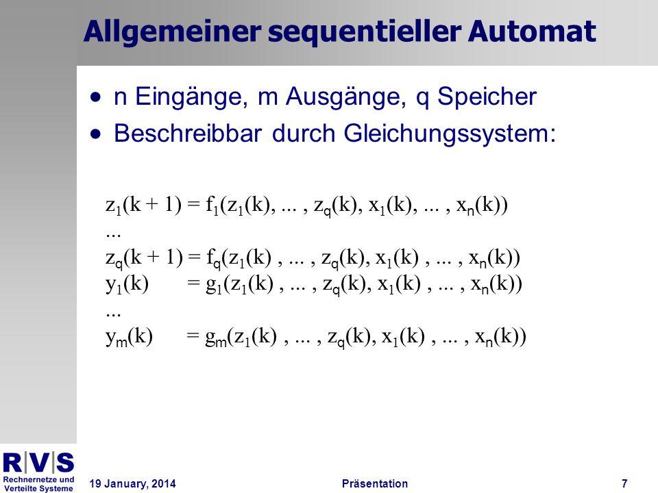 Allgemeiner sequentieller Automat