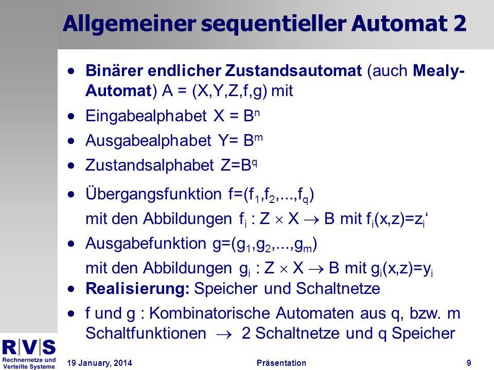 Allgemeiner sequentieller Automat 2