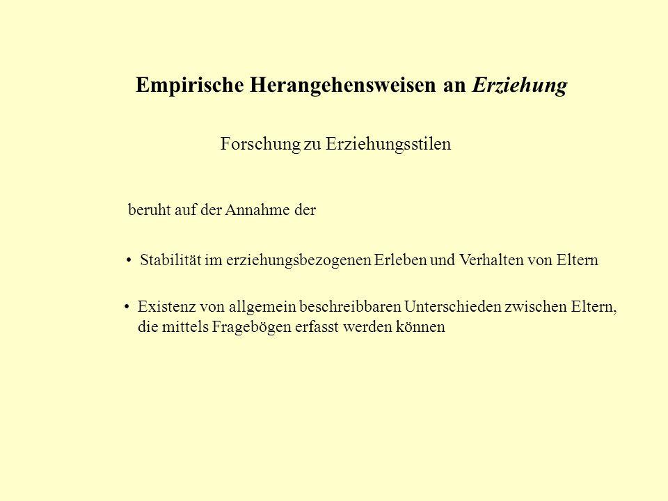 Empirische Herangehensweisen an Erziehung