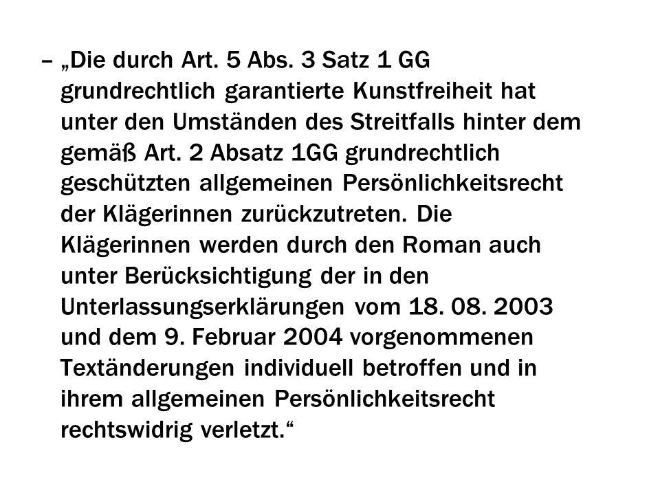 """""""Die durch Art. 5 Abs."""