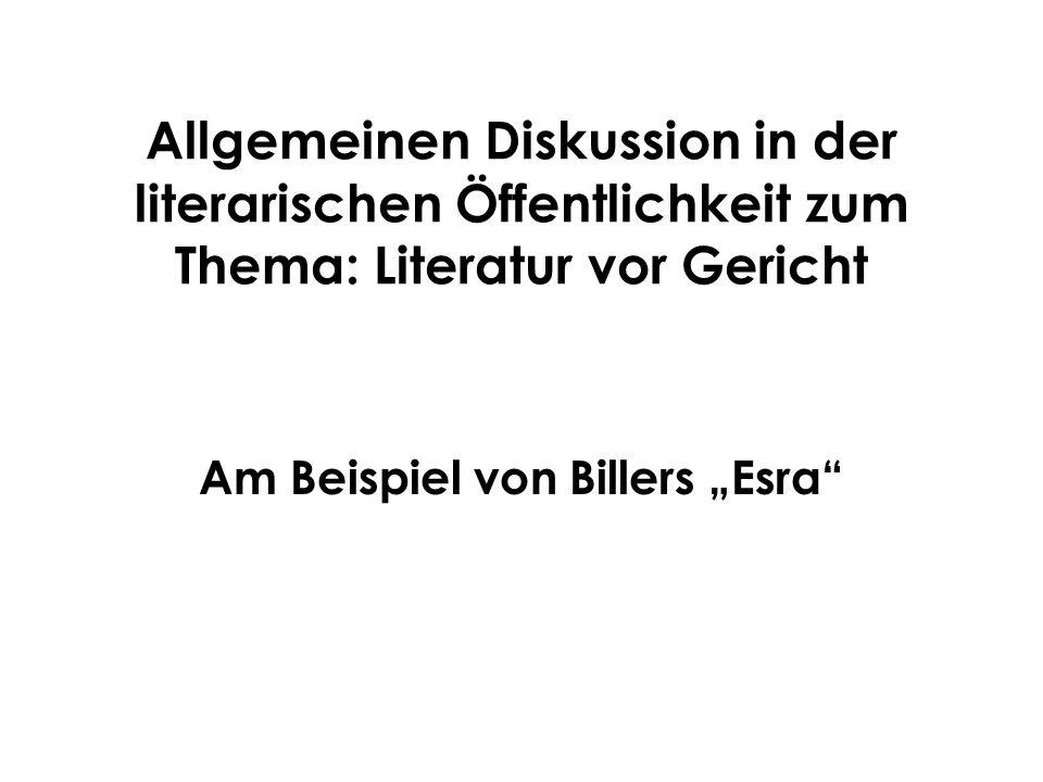 """Am Beispiel von Billers """"Esra"""