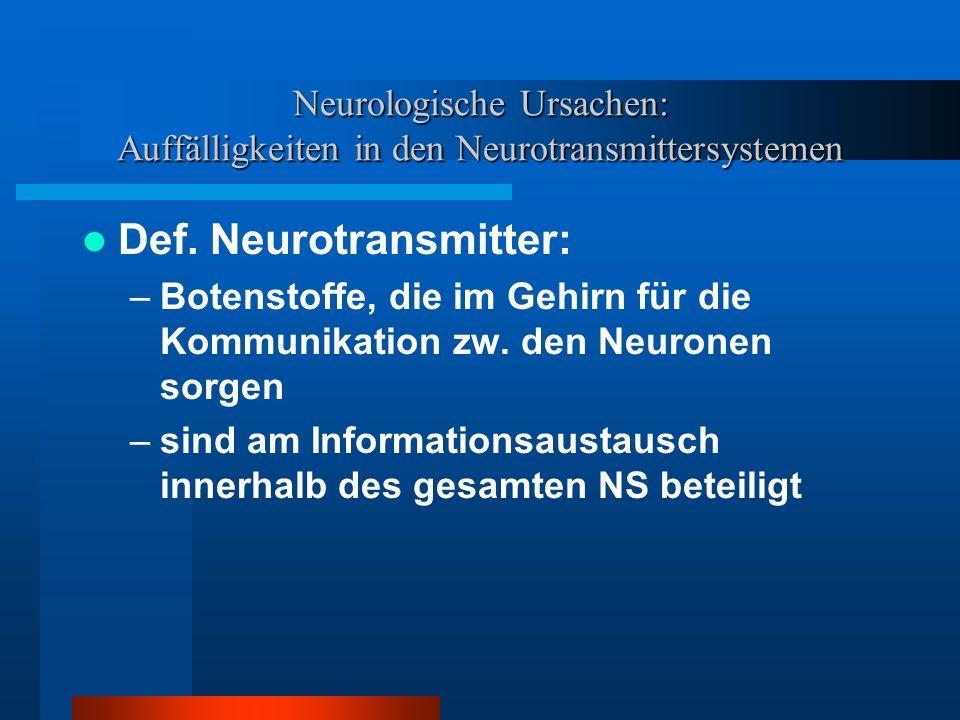 Def. Neurotransmitter: