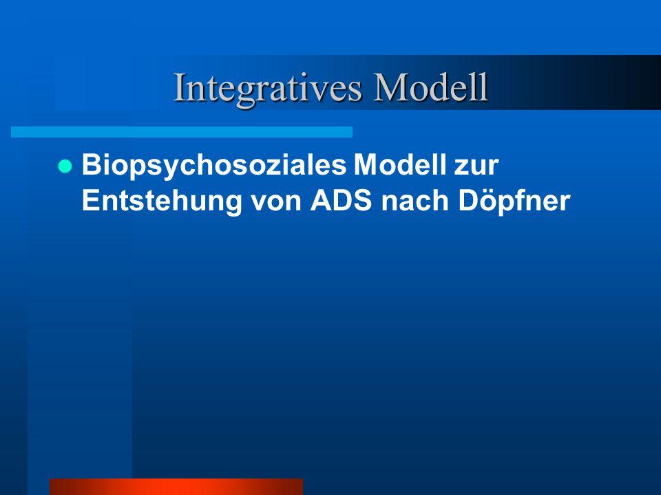 Integratives Modell Biopsychosoziales Modell zur Entstehung von ADS nach Döpfner