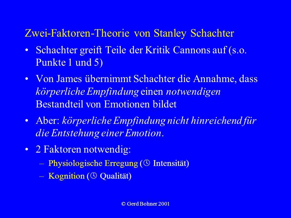 Zwei-Faktoren-Theorie von Stanley Schachter