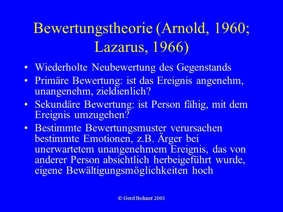 Bewertungstheorie (Arnold, 1960; Lazarus, 1966)