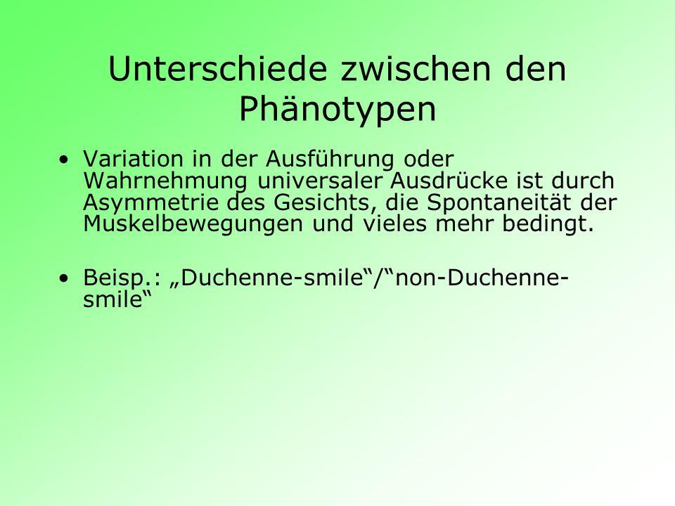 Unterschiede zwischen den Phänotypen